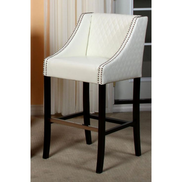 Bar stools cheap bar stools milano ivory quilted bonded for White bar milano