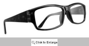Zachary Rectangular Wayfarers Glasses - 416 Black