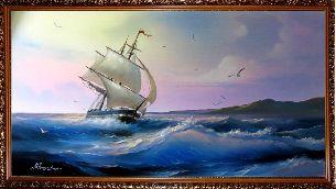 Белый парус - Морской пейзаж <- Картины маслом <- Картины - Каталог | Универсальный интернет-магазин подарков и сувениров