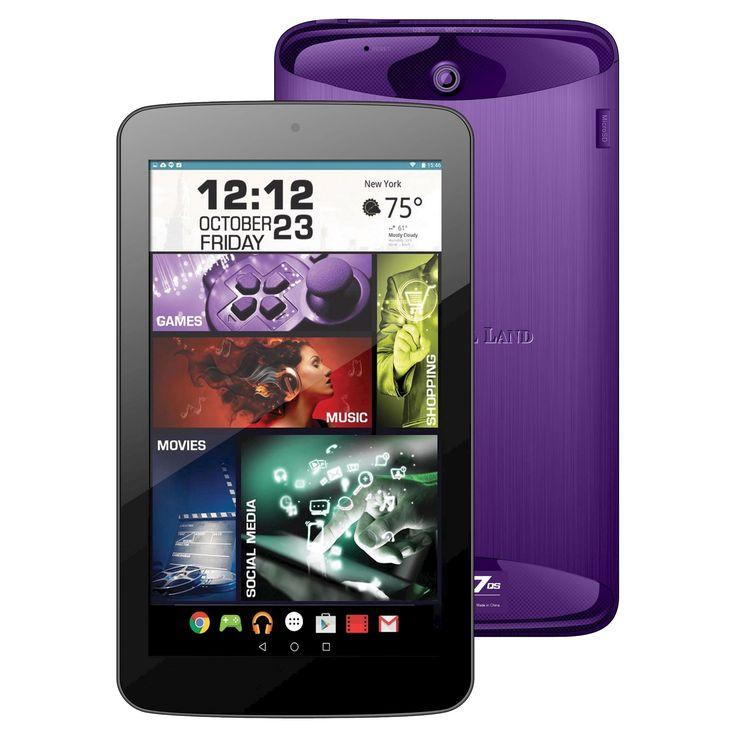 Prestige Elite 7QS 7 QuadCore 16GB Lollipop Android Tablet, Wifi, 2MP Camera, 1024x600 Touchscreen, Purple