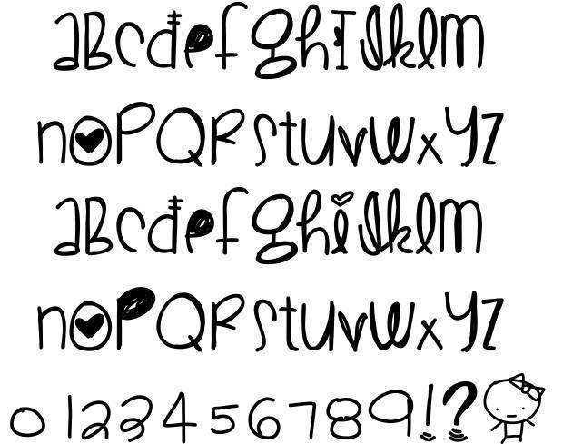Best 25 Cute Fonts Alphabet Ideas On Pinterest Letter