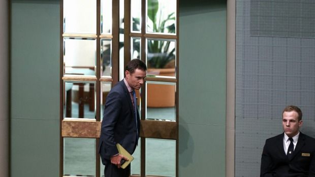 Liberal MP Andrew Laming kicked out of parliament for using props