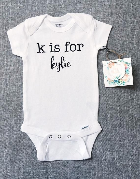 Infant 0-3 Months White Onesie with Blue Vinyl Baby Decal