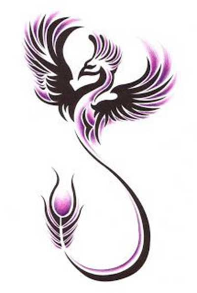 phoenix tattoo - PURPLE! https://es.pinterest.com/Designcat2/crafty-ideas-embossing-engraving-embroidery-design/                                                                                                                                                      More