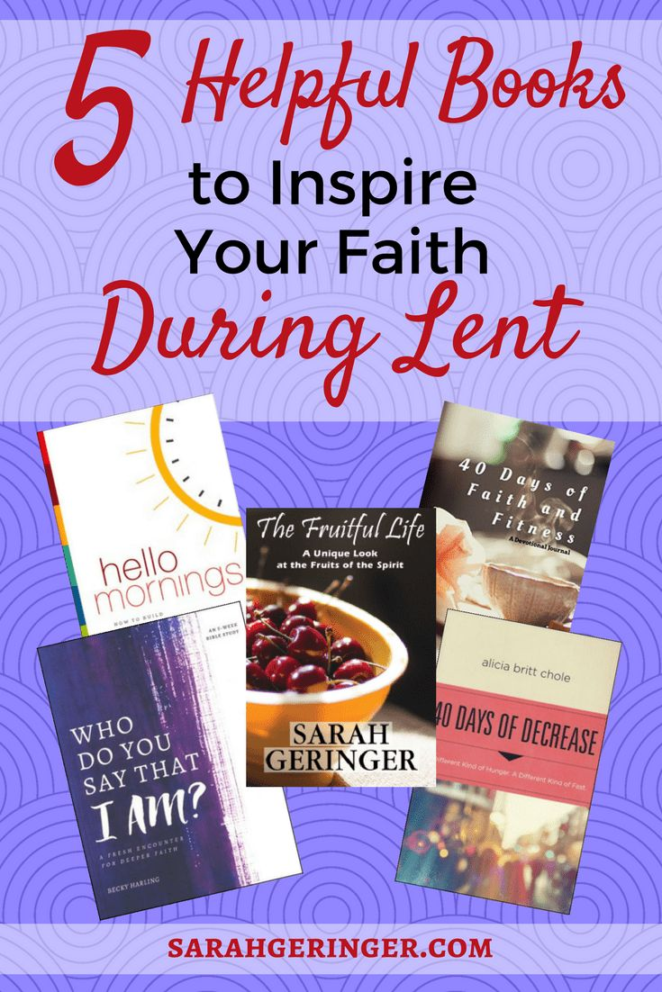 5 inspiring reads for Lent to help you grow your faith, plus a free 40-day devotional. #lent #biblestudy #devotional #bookreview