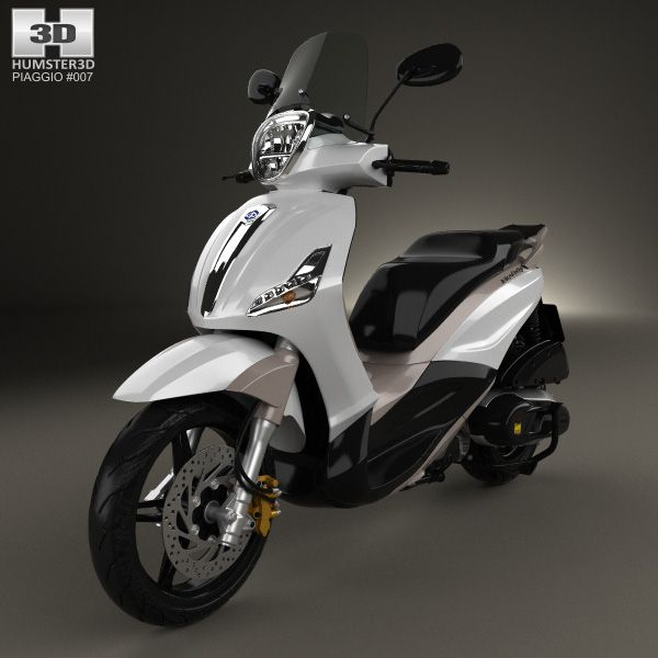 Piaggio BV350 2015 3d model from humster3d.com