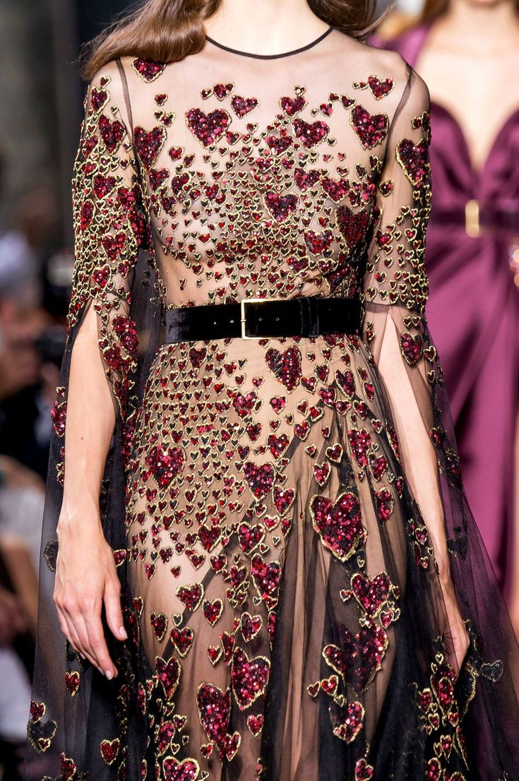"hautekills: "" Elie Saab haute couture f/w 2016 "" ; hearts gown; Valentine's Day gown"