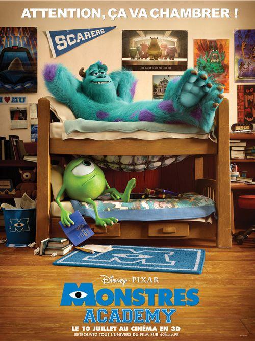 "Pixar-Planet.fr | Des artworks de ""Monstres Academy""."