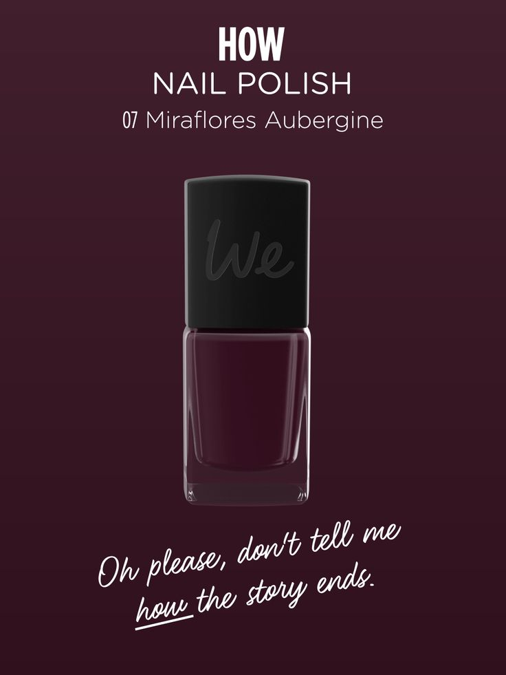HOW | Nail Polish in Miraflores Aubergine  Discover more on http://wemakeup.it/#HOW_nail_polish