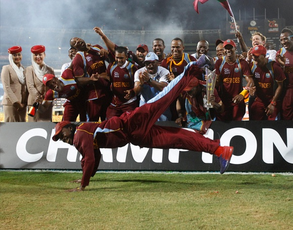 "Chris Gayle was at the centre of celebrations, dancing to ""Gangnam Style"". ""Gangnam Style"", by South Korean rapper PSY, is a satire of life in Seoul, where people are trendy and hip. More Pics @ http://www.newsx.com/west-indies-wins-world-t20-gangnam-style"