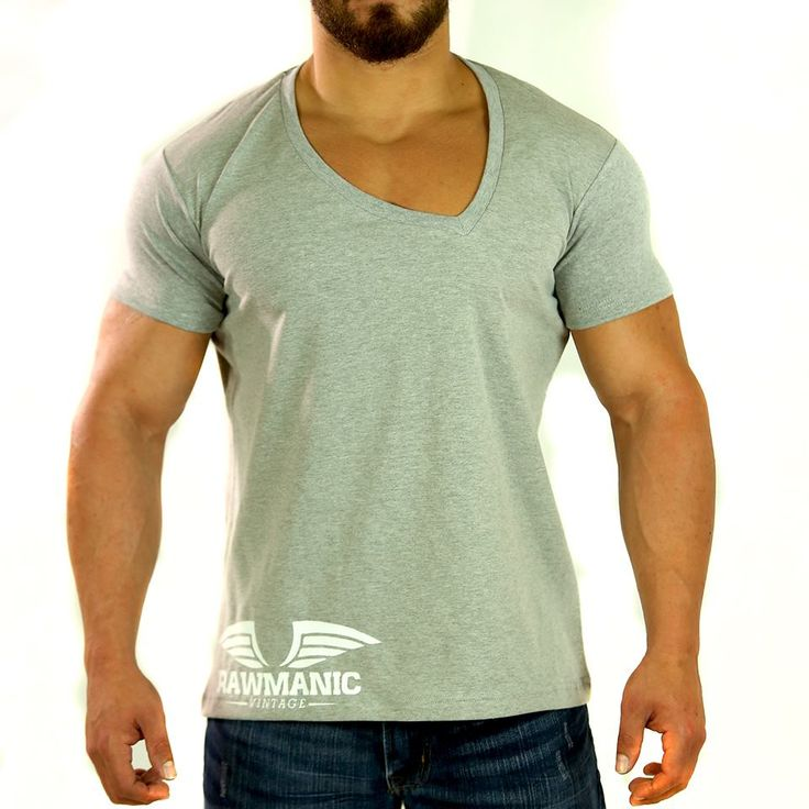 Curved V-Neck Vintage Tee by Rawmanic. Discover more at www.RAWMANIC.com