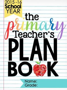 Have you ever wanted a plan book that was cute, functional, and was made specifically for the primary teacher? If so, this plan book is for you! I made sure to include sheets that primary teachers will need every day, including centers/stations sheets, Daily 5 sheets, small group instruction sheets, buddy pair-up sheets, group projects sheets, and LOTS more!This 101 page plan book uses very little colored ink.