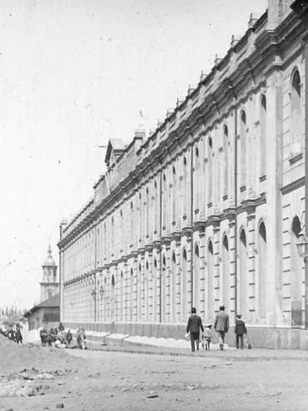 Antigua Penitencieria de Talca, trasladada en 1864 a su ubicación actual en la Alameda desde la Plaza de Armas.