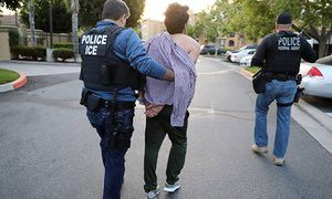 US Immigration and Customs Enforcement (ICE) arrest man