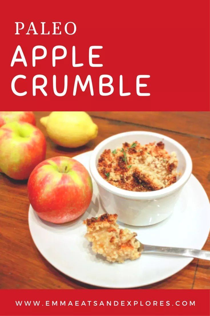 Apple & Cinnamon Crumble by Emma Eats & Explores - SCD Paleo, Gluten-Free, Grain-Free, Dairy-Free, Sugar-Free, Vegetarian, Vegan