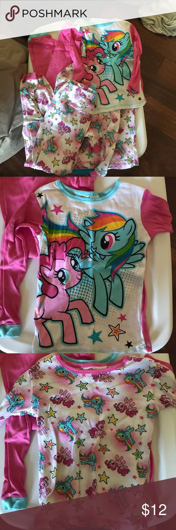 My little pony pjs Two pairs of long sleeved my little pony pjs. In good condition. Mix and match the top and bottom. Pajamas Pajama Sets