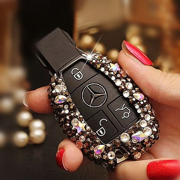 Bling Car Key Holder with Rhinestones for Mercedes Benz - Carsoda - 1