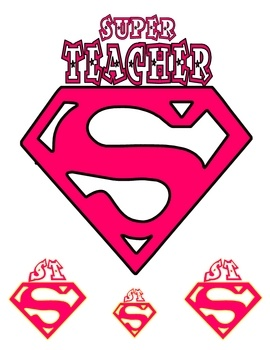 Super teacher, can use for Halloween costume.