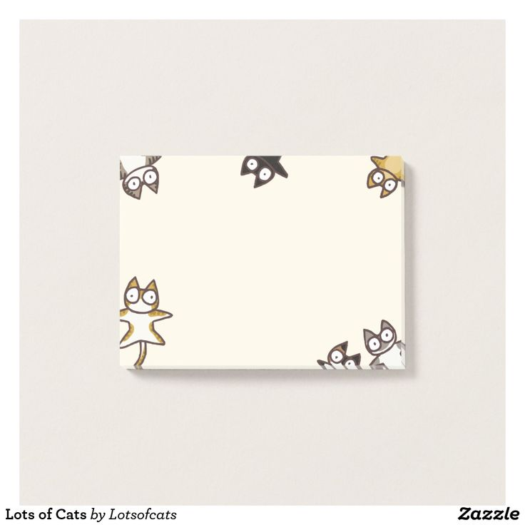 Lots of Cats Post-it Notes  #cats #cute #funny