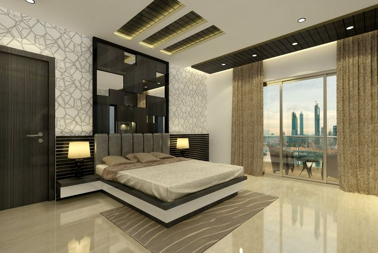 Master bedroom we design and execute the same contact us for Luxe decor llp