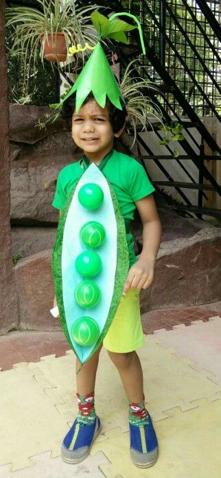 Disfraz de vegetales: Guisantes