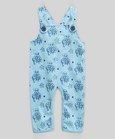 Loving this Wriggly Octopus Arctic Blue Overalls - Infant on #zulily! #zulilyfinds