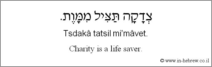 Charity hebrew quote