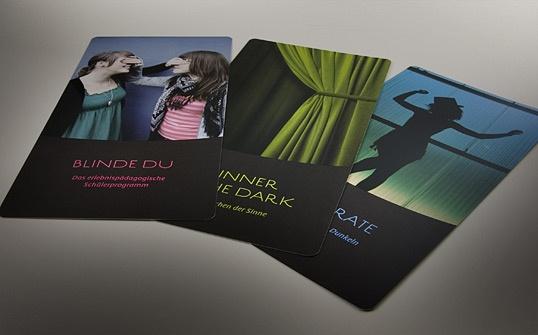 Corporate Design fuer Vier Sinne, Flyer