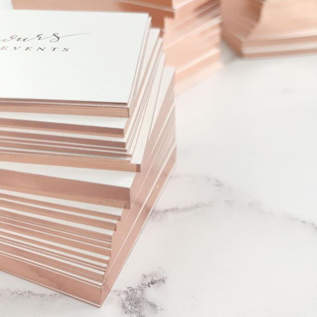 G I L T E D G E S All The Love For These Gorgeous Rose Gold Gilt Edged And Hot Foiled Luxe B Luxe Business Cards Rose Gold Business Card Gold Business Card