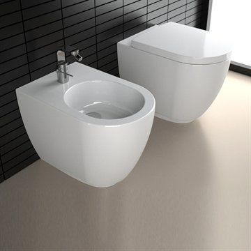 Toilet Fusion gulvmodel Y0XA i rene linjer. Made in Italy