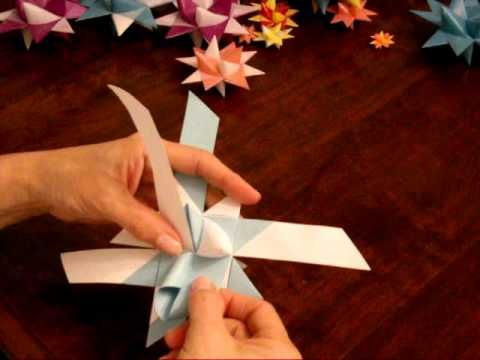 German Folded Paper Star Tutorial Part 2 of 2