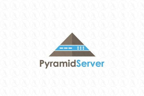 Pyramid Server - $250 (negotiable) http://www.stronglogos.com/product/pyramid-server #logo #design #sale #pyramid #server #security #computer #IT #backup #cloud #host