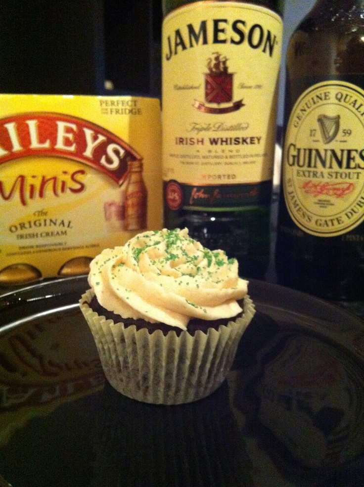 Easy Irish Car Bomb Cupcakes for St. Patrick's Day!
