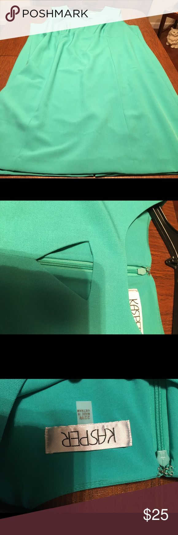 EUC Kasper Suit Separates Dress Lucky teal suit separates from Kasper. Worn once to a job interview, and I got the job. 😉 Great cut-out collar. Size 22W. Excellent used condition. Kasper Dresses Midi