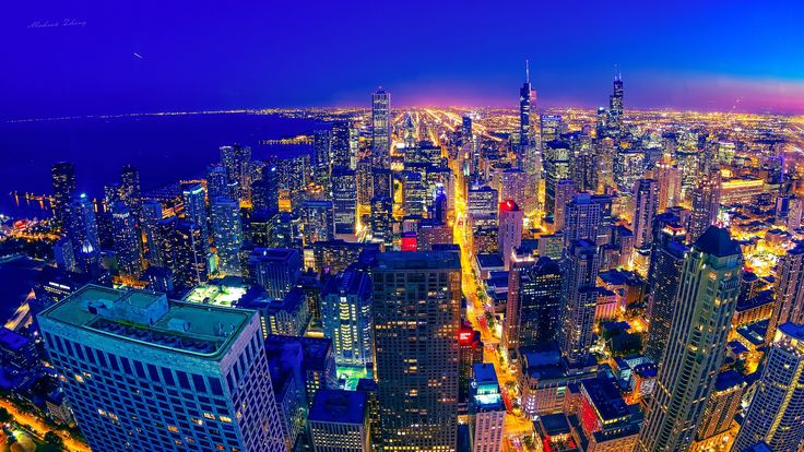 Chicago Night by Michael Zheng on 500px