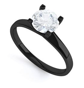 Black Gold Engagement Ring. Make the cut a diamond cut and you