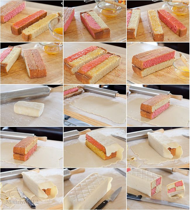 Battenberg Cake How To. Someday I'm going to make one of these. I <3 Battenberg.