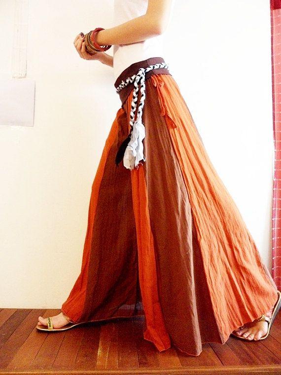 orange cotton pants