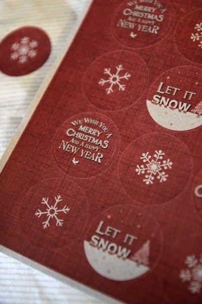 Merry Christmas Circular Gift Stickers - Small - View All Christmas - Christmas