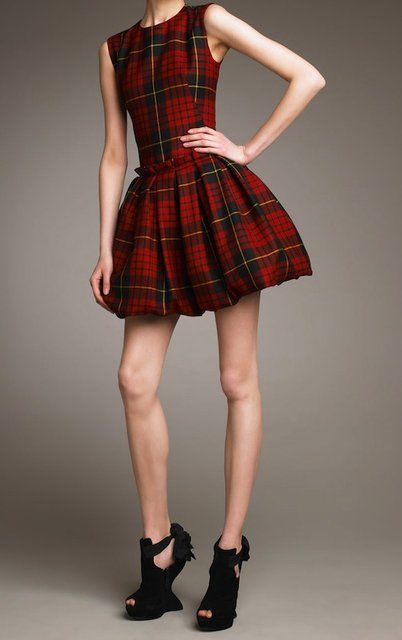 I love this tartan McQ by Alexander McQueen pouf-skirt dress.