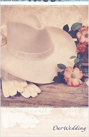 Western Wedding Bulletins from Wedding Favors Unlimited