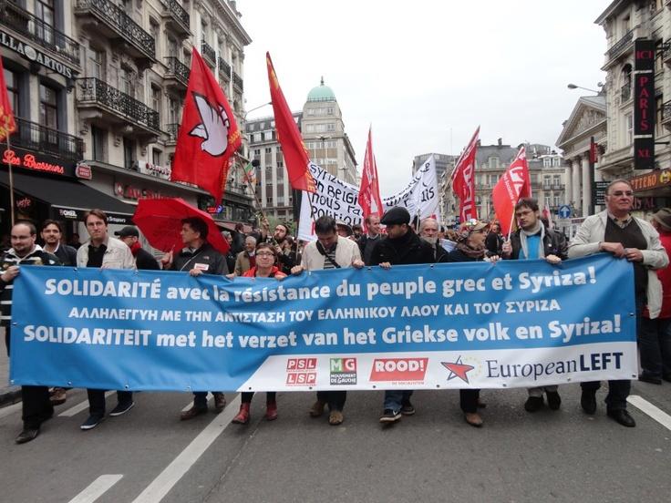 Διαδήλωση στις Βρυξέλλες
