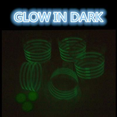 Glowing Cups Beverage Pong Party Set Black Light Ping Balls