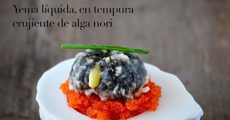 Una yema liquida en el interior, envuelta  en una crujiente alga nori en tempura. Intenso sabor a mar  en un bocado sorprendente, sobre...