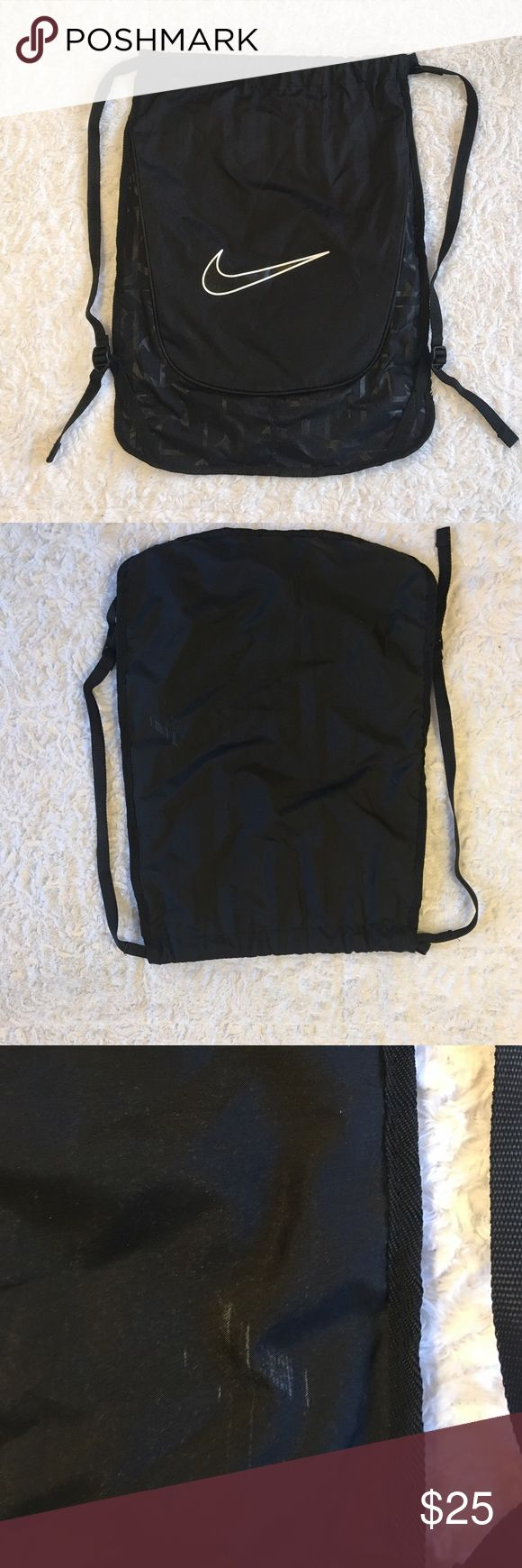 Nike Sports Gym Backpack Nike Backpack. Lightly Used. Small Scuff On Back. Over All Great Condition. Nike Bags Backpacks