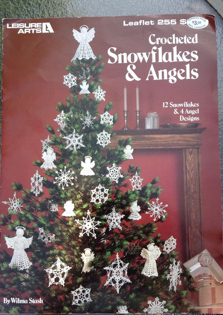 A personal favorite from my Etsy shop https://www.etsy.com/ca/listing/522544776/crocheted-snowflakes-and-angels-leaflet