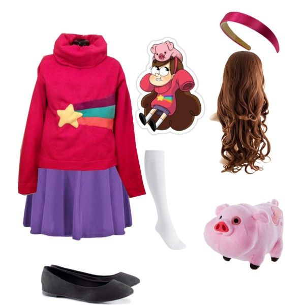 Mabel Pines Cosplay by that-fandom-nerd on Polyvore featuring H&M, Disney…