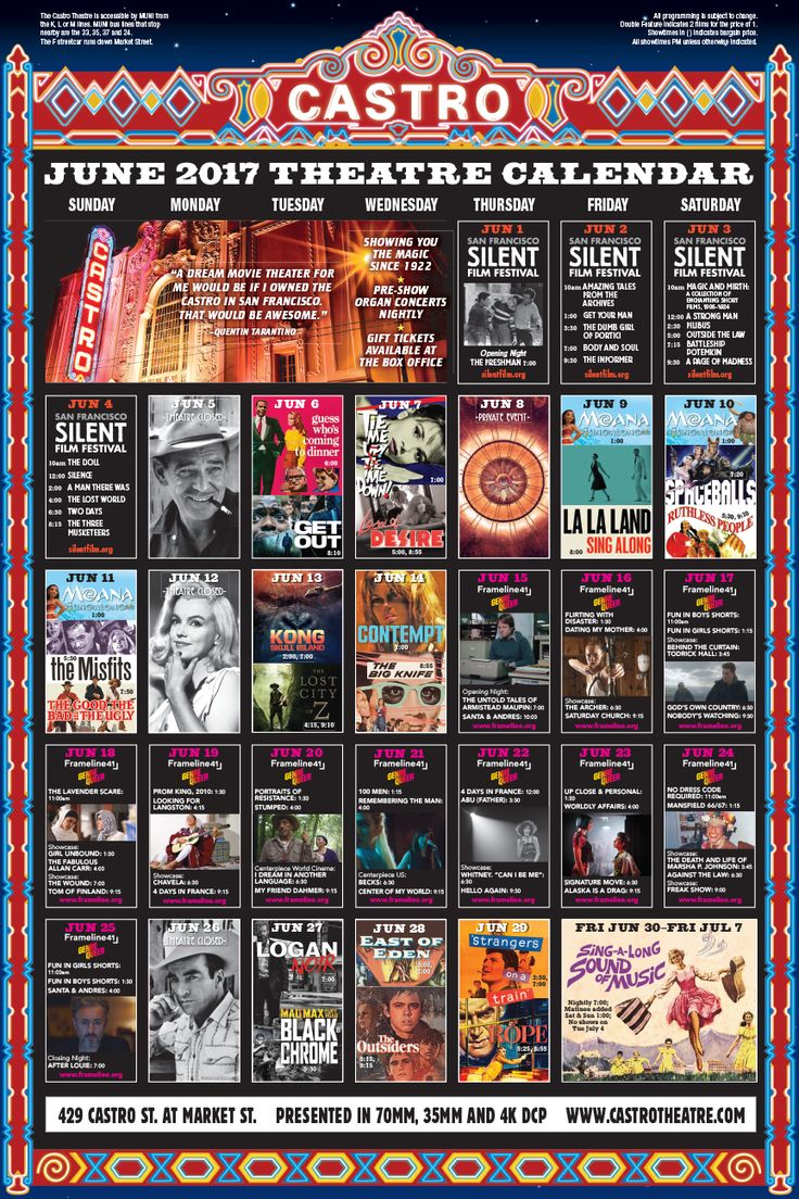 Castro Theatre - Calendar of Events