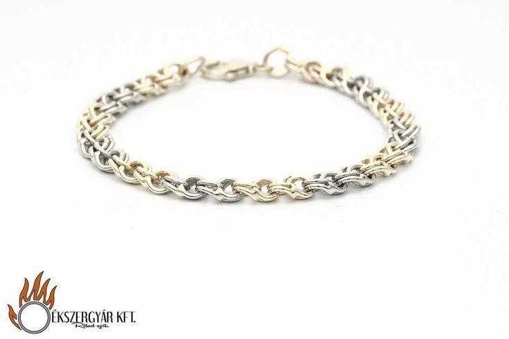 yellow and white 14 karat gold bracelet sárga és fehér 14 karátos arany karkötő