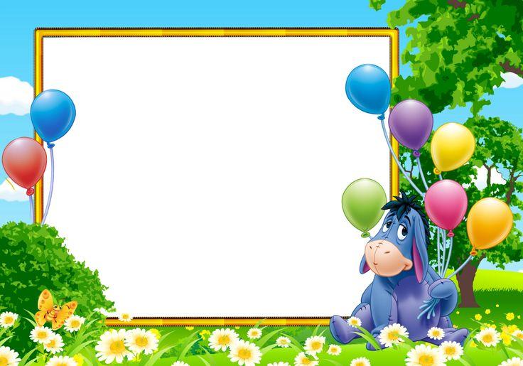 Детская рамка с поздравлением